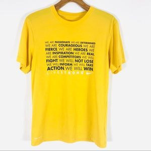 Nike vintage live strong shirt bright yellow